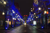 Streets on Postadmer Platz in the Christmas illuminations — Stock Photo