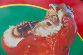 Coca-Cola iconic Santa Claus — Stock Photo
