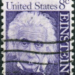 Postage stamp printed in the USA, shows a portrait of Albert Einstein — Stock Photo