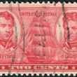 Postage stamp printed in the USA, shows a Stephen Decatur and Thomas MacDonough — Stock Photo