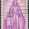 Postage stamp printed in the USA, Honoring those who helped fight polio, and 20th anniv. of the Natl. Foundation for Infantile Paralysis and the March of Dimes — Stock Photo