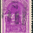 Stock Photo: Postage stamp printed in USA, Washington Inauguration Issue, shows George Washington Taking Oath of Office