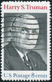 Postage stamp printed in the USA, shows a portrait 33rd President of the United States, Harry S. Truman — Stock Photo