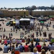 Festival of Latin dances. The scene on the Senate Square in front of the Helsinki Cathedral — Stock Photo #37242949