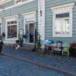 The shopping street of the old town. Porvoo. Finland — Stock Photo