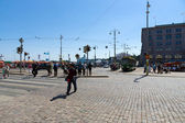 The Market Square is a central square in Helsinki. Finland — Стоковое фото