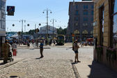 The Market Square is a central square in Helsinki. Finland — Zdjęcie stockowe