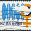 Postage stamp printed in the USA, International Women's Year Issue, shown Worldwide Equality for Women — Stock Photo