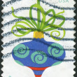 Postage stamp printed in the USA, Christmas Issue, shown Holiday Baubles — Stock Photo