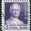 Postage stamp printed in Panama Canal Zone, dedicated to 20th anniversary of the Panama Canal opening, shows George Washington Goethals — Stock Photo