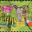 Postage stamp printed by Germany, shows children's Easter illustration German artists and children's book authors, Janosch (real name Horst Eckert) — Stock Photo
