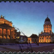 Stock Photo: Postage stamp printed by Germany, shows historic square in Berlin, Gendarmenmarkt