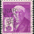 Stock Photo: Postage stamp printed in USA, dedicated to centenary of birth of Thomas AlvEdison