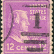 Postage stamp printed in USA, shows a portrait of 12th President of the United States, Zachary Taylor — Stock Photo #37744205