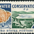 A postage stamp printed in USA, Water Conservation Issue, shows Water, from Watershed to Consumer — Stock Photo #37745399