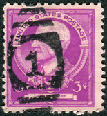 Postage stamps printed in USA, shows an American academic, Charles William Eliot — Stock Photo