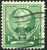 Postage stamps printed in USA, shows an American education reformist, Horace Mann — Стоковое фото