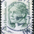 Stockfoto: Postage stamp printed in USA, shows Alice Hamilton, social reformer and physician