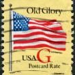 "Postage stamp printed in USA, shows the national flag ""Old Glory"" — Stock Photo"