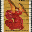 Postage stamp printed in USA, Christmas Issue, shows Angel, from Perussis Altarpiece, in 1480 — Stock Photo #37859861