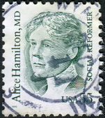 Postage stamp printed in USA, shows Alice Hamilton, a social reformer and physician — Stock Photo