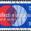 "Postage stamp printed in USA, Collective Bargaining Issue, shows ""Labor and Management"" — Stock Photo #37860089"