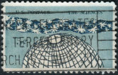 Postage stamp printed in USA, is dedicated to Honoring the sciences and centenary of the National Academy of Science — Stock Photo