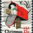 Postage stamp printed in USA, Christmas Issue, depicted Rural Mailbox — Stock Photo