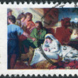 ������, ������: Postage stamp printed in USA Christmas Issue shows a picture of the Boston Museum The Nativity by John Singleton Copley