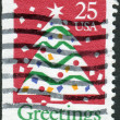 Stock Photo: Postage stamp printed in USA, Christmas Issue, shows Christmas Tree