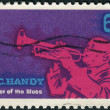 Postage stamp printed in USA, shows a jazz musician and composer, William Christopher Handy — Stock Photo #37919277