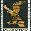 Postage stamp printed in USA, dedicated to the Campaign to draw more voters to the polls, shows the weather vane is from an old house in the Russian Hill section of San Francisco — Stock Photo #37919301