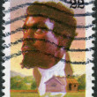 Postage stamp printed in USA, shows pioneer trader, founder of Chicago, JeBaptiste Pointe du Sable — Stock Photo #37919473