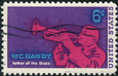 Postage stamp printed in USA, shows a jazz musician and composer, William Christopher Handy — Stock Photo