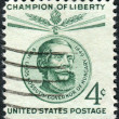 Postage stamp printed in USA, shows a Hungarian freedom fighter, Lajos Kossuth — Stock Photo