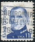 Postage stamp printed in USA, shows an American author, legislator, officer, surveyor, an early superintendent of the US Military Academy at West Point, Alden Partridge — Stok fotoğraf
