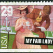 "Postage stamp printed in the USA, dedicated to Broadway musicals, shows a scene from the musical ""My Fair Lady"" — Stock Photo #38054823"