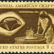 Постер, плакат: A postage stamp printed in USA American Bicentennial Colonial American Craftsmen shows Hatter