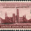 Stock Photo: Postage stamp printed in USA, dedicated to Centenary of establishment of SmithsoniInstitution, Washington, shows building SmithsoniInstitution