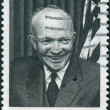 A postage stamp printed in USA, shows the 34th President of the United States, Gen. Dwight D. Eisenhower — Stock Photo #38055095