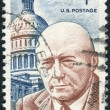 Stock Photo: Postage stamps printed in USA, shows Sam Rayburn, Speaker of House of Representatives
