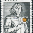 A postage stamp printed in USA, shows Nicolaus Copernicus, Polish astronomer — Stock Photo #38055921