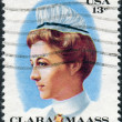 Stock Photo: Postage stamp printed in USA, shows portrait of ClarMaass, Newark GermHospital Pin