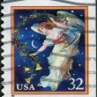 Stock Photo: Postage stamps printed in USA, Christmas Issue, shows Midnight Angel
