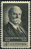 Postage stamps printed in USA, shows the 36th Governor of New York and 11th Chief Justice of the United States, Charles Evans Hughes — Stock Photo