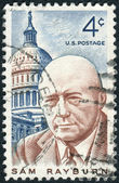 Postage stamps printed in USA, shows Sam Rayburn, Speaker of the House of Representatives — Stock Photo