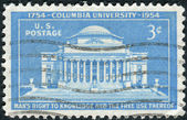 A postage stamp printed in the USA, dedicated to the 200th Anniversary Columbia University, shows Low Memorial Library — Stock Photo