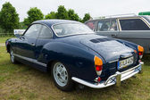 The two-door coupe Volkswagen Karmann Ghia, rear view — Стоковое фото