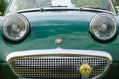 The two-door roadster, sports car Austin-Healey Sprite, front view, close-up — Stock Photo