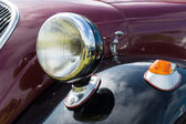 Detail of the front of the Italian compact car Fiat 500 Topolino (1939) — Stock Photo